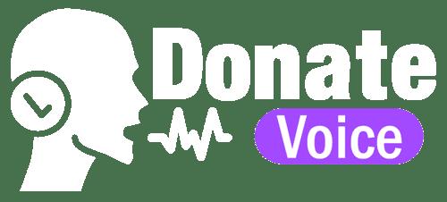 donate voice logo voice